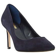 Buy Dune Wide Fit Abbigail Stiletto Heeled Court Shoes, Navy Suede Online at johnlewis.com