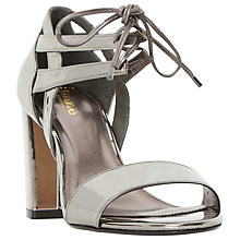 Buy Dune Wide Fit Moroco Block Heeled Sandals, Pewter Metallic Online at johnlewis.com