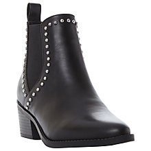 Buy Steve Madden Talor-D Studded Block Heeled Ankle Boots, Black Online at johnlewis.com