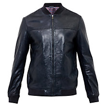 Buy Ted Baker Action Leather Bomber Jacket Online at johnlewis.com