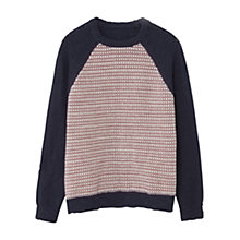 Buy Mango Kids Boys' Elbow Patch Jumper, Blue/Multi Online at johnlewis.com