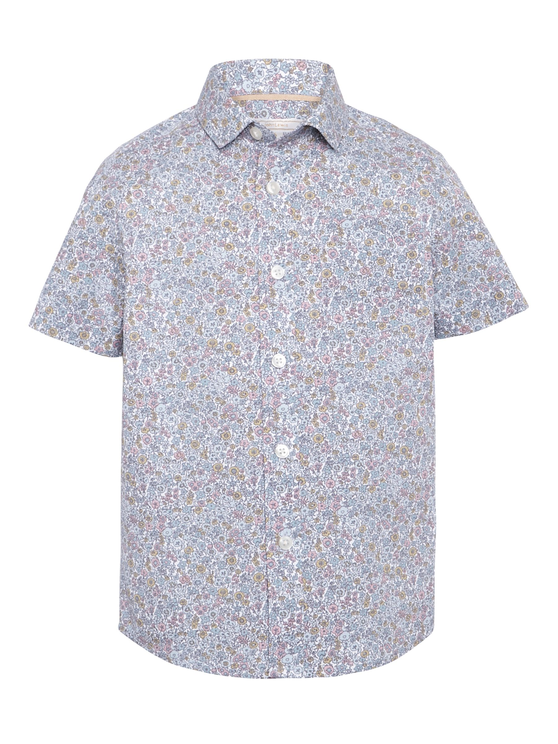 John Lewis Heirloom Collection John Lewis Heirloom Collection Boys' Floral Shirt, Multi