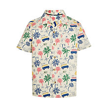 Buy John Lewis Boys' Pirate Print Shirt, Cream/Multi Online at johnlewis.com