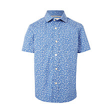 Buy John Lewis Heirloom Collection Boys' Floral Shirt, Blue/White Online at johnlewis.com