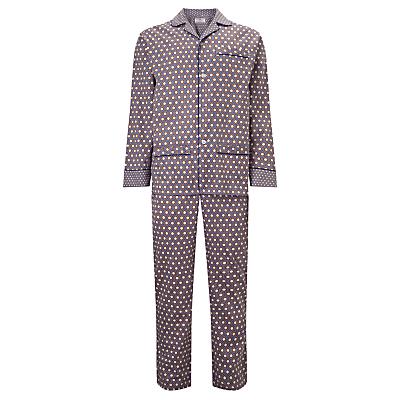 Otis Batterbee Cravat Print Cotton Pyjamas, Cobalt
