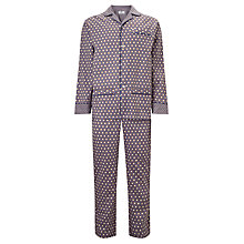 Buy Otis Batterbee Cravat Print Cotton Pyjamas, Cobalt Online at johnlewis.com