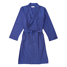 Buy Otis Batterbee Herringbone Cotton Robe, Navy Online at johnlewis.com