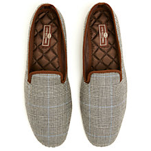 Buy Otis Batterbee Prince of Wales Wool Slippers, Grey Online at johnlewis.com