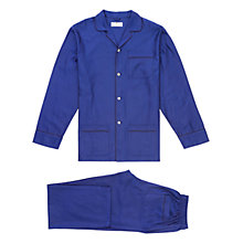 Buy Otis Batterbee Herringbone Cotton Pyjamas, Navy Online at johnlewis.com