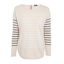 Buy Cocoa Cashmere Curved Hem Stripe Cashmere Jumper, Multi Online at johnlewis.com