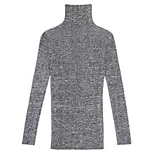 Buy Finery Ada High Neck Skinny Twist Jumper Grey Online at johnlewis.com