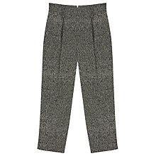 Buy Finery Eastcote Coated Peg Trousers, Monochrome Online at johnlewis.com