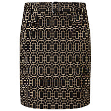Buy Phase Eight Mya Printed Skirt, Charcoal/Camel Online at johnlewis.com