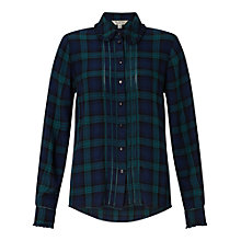 Buy Miss Selfridge Check Pintuck Shirt Online at johnlewis.com