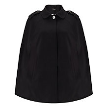 Buy Miss Selfridge Collar Cape Coat, Black Online at johnlewis.com