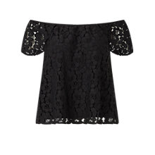 Buy Miss Selfridge Lace Bardot Top Online at johnlewis.com