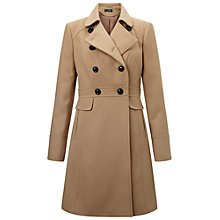 Buy Miss Selfridge Double Breasted Coat, Camel Online at johnlewis.com