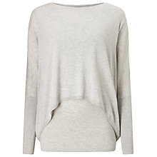 Buy Phase Eight Charley Double Layer Jumper, Silver Marl Online at johnlewis.com