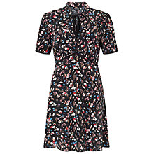 Buy Miss Selfridge Ditsy Tea Dress, Black Online at johnlewis.com
