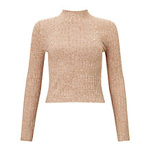 Buy Miss Selfridge Petite Funnel Neck Jumper Online at johnlewis.com