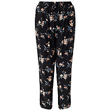 Buy Miss Selfridge Floral Pyjama Jogger, Black Online at johnlewis.com