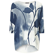 Buy Phase Eight Allie Leaf Print Jumper, Ink Online at johnlewis.com