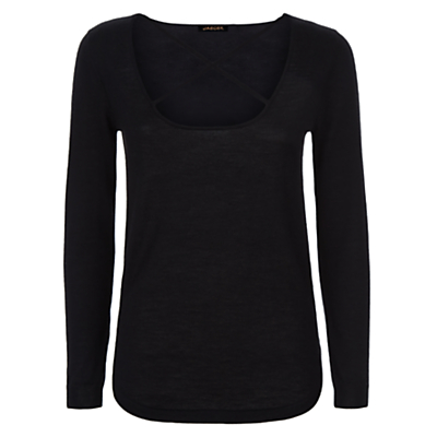 Donna Ida for Jaeger Miss Vivian Cashmere Jumper, Noir