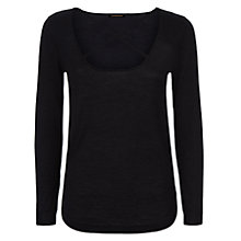 Buy Donna Ida for Jaeger Miss Vivian Cashmere Jumper, Noir Online at johnlewis.com