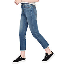 Buy Miss Selfridge Faye Super Frayed Jeans, Mid Wash Denim Online at johnlewis.com