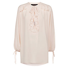 Buy Donna Ida for Jaeger Constant Romance Silk Blouse, Barely Pink Online at johnlewis.com