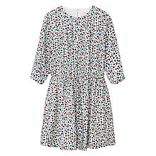 Buy Mango Kids Girls' Floral Print Dress, Light Beige Online at johnlewis.com
