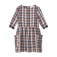 Buy Mango Kids Girls' Check Cotton Dress, Medium Brown Online at johnlewis.com