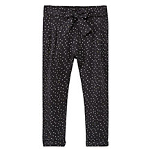 Buy Mango Kids Girls' Tiny Triangles Print Baggy Trousers, Charcoal Online at johnlewis.com