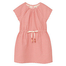 Buy Mango Kids Girls' Zig Zag Print Cotton Dress, Bright Red Online at johnlewis.com