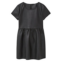 Buy Mango Kids Girls' Faux Leather Dress, Black Online at johnlewis.com