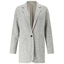 Buy Miss Selfridge Brushed Duster Coat, Grey Online at johnlewis.com