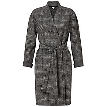 Buy Miss Selfridge Check Belted Duster Coat, Grey Online at johnlewis.com