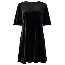 Buy Phase Eight Pia Pleat Velvet Dress, Black Online at johnlewis.com