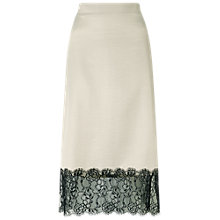 Buy Miss Selfridge Lingerie Lace Trim Skirt, Grey Online at johnlewis.com