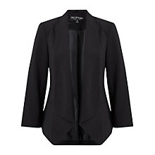Buy Miss Selfridge Waterfall Blazer, Black Online at johnlewis.com