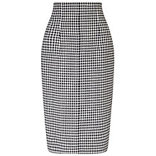 Buy Miss Selfridge Gingham Pencil Skirt, Black Online at johnlewis.com