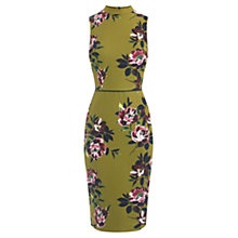 Buy Oasis Painterly Floral Pencil Dress, Multi Online at johnlewis.com