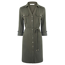 Buy Oasis Textured Shirt Dress, Khaki Online at johnlewis.com