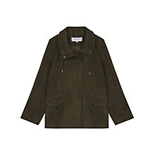 Buy Gerard Darel Verona Leather Jacket, Dark Green Online at johnlewis.com