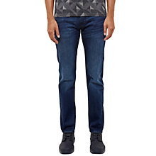 Buy Ted Baker Simms Straight Fit Jeans, Mid Wash Online at johnlewis.com