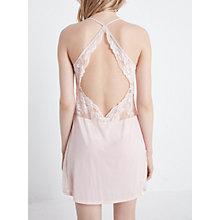 Buy John Lewis Arabella Lace Detail Chemise, Gossamer Pink Online at johnlewis.com