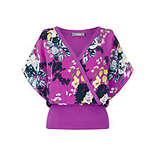 Buy Oasis Botanical Bouquet Wrap Top, Deep Pink Online at johnlewis.com