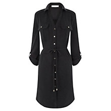 Buy Oasis Textured Shirt Dress, Black Online at johnlewis.com