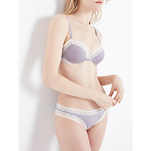 Buy John Lewis Phoebe Lace Trim Briefs, Lilac/Cream Online at johnlewis.com