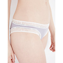 Buy AND/OR Phoebe Lace Trim Briefs, Lilac/Cream Online at johnlewis.com